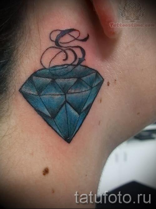 тату алмаз на шее 13 фото