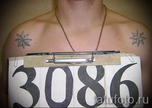 Блатная тату - подключичная звезда - отрицалово всего ментовского