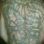 Блатная тату с пиратом - говорит о разбое