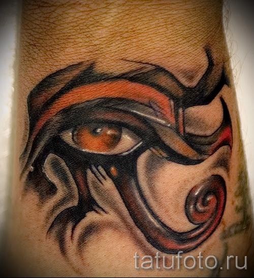 Древняя татуировка - глаз ра