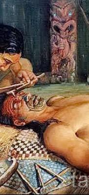 Древняя татуировка – процесс нанесения на лицо