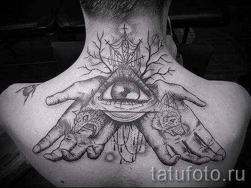 Древняя татуировка с глазом и ладонями