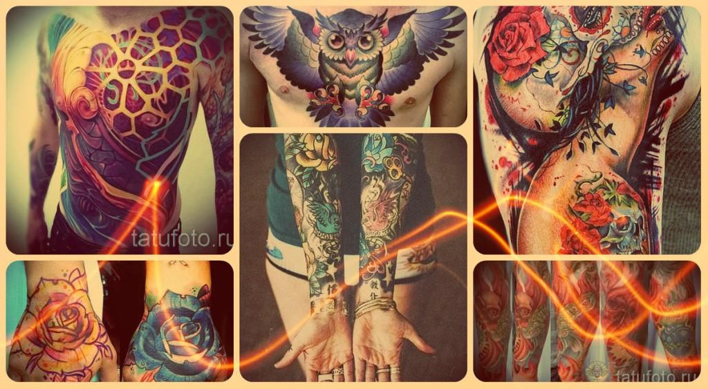 Нью скул тату на фото - лучшие примеры готовых татуировок