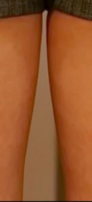 Тату замок и ключ фото пример – на ногах сзади у девушки