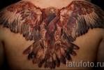 Тату орел в броске – вариант на спину