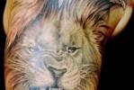 Тату орел и лев