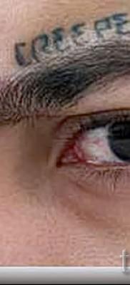 Тату слеза под глазом – пример на фото –  3