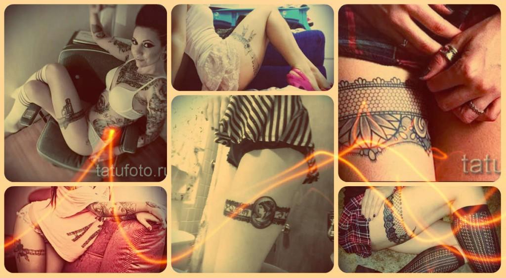 Фотографии подвязок в татуировке - лучшие примеры на фото