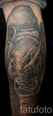 Фото пример тату носорог – большая тату на всю руку