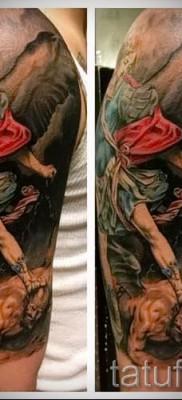 Фото тату архангел Михаил – красивая цветная тату для парня