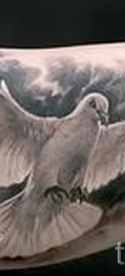Фото тату голубь – на бицепсе