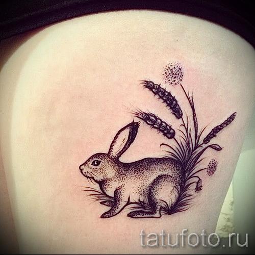 Тату кролика для девушек 30
