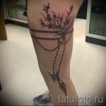 Фото тату подвязка и дерево с бабочками