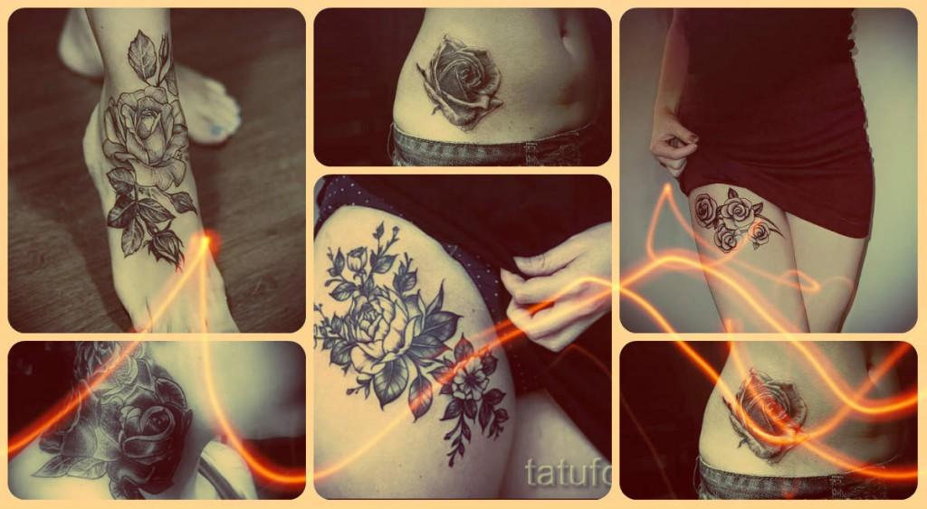 Что значат татуировки с черной розой - примеры на фото