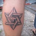 пример татуировки со зведой давида на фото 3
