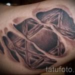 пример татуировки со зведой давида на фото 6
