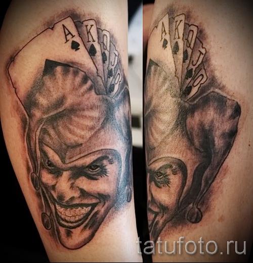 Фото татуировок джокера на плечо