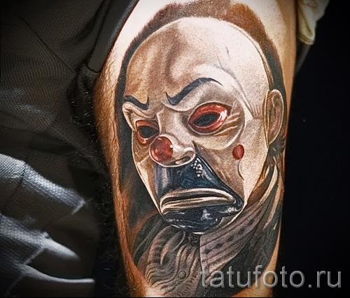 фото пример тату джокер - необычный рисунок на руку