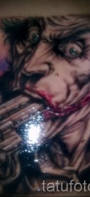 фото пример тату джокер с пистолетом во рту