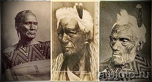 Древняя татуировка - старинные фото