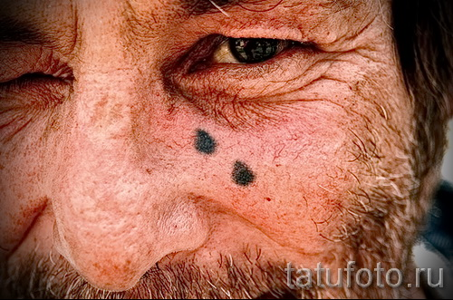 Тату слеза под глазом - пример на фото -  35