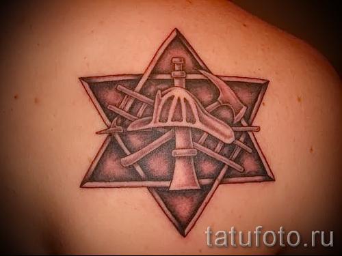 пример татуировки со зведой давида на фото 10