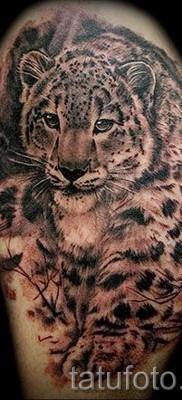 Фото тату барс – пример красивой татуировки