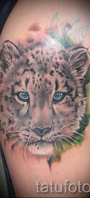 Фото тату барс – реалистичная татуировка на плече