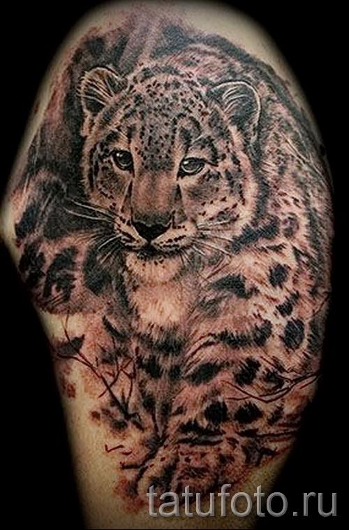 Фото тату барс - пример красивой татуировки