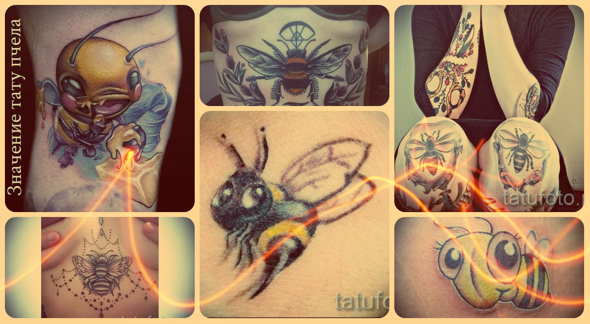 Значение татуировки пчела - примеры готовых тату на фото