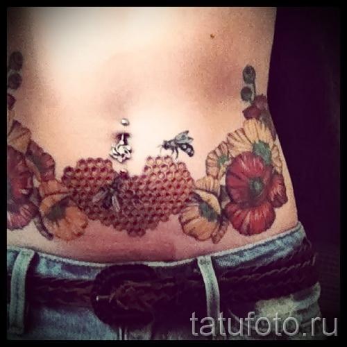 Пример тату пчелы на фото 49