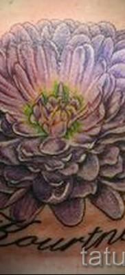 Пример тату хризантема на фото № 34