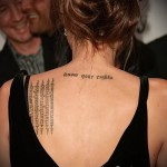 Тату Анджелины Джоли - пример на фото № 1