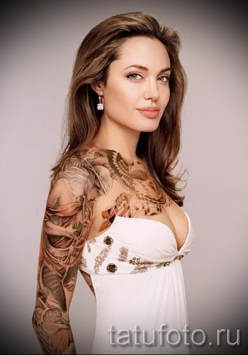 Тату Анджелины Джоли - пример на фото № 15