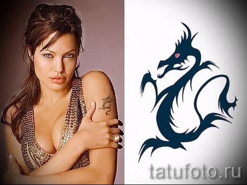 Тату Анджелины Джоли - пример на фото № 29