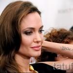Тату Анджелины Джоли - пример на фото № 33