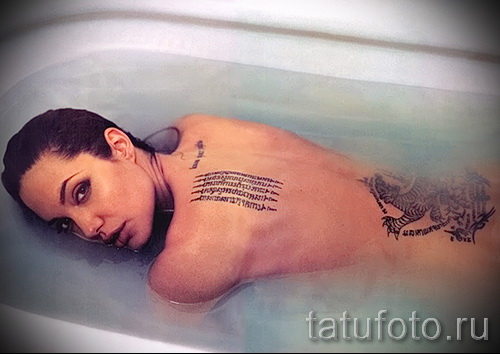 Тату Анджелины Джоли - пример на фото № 44