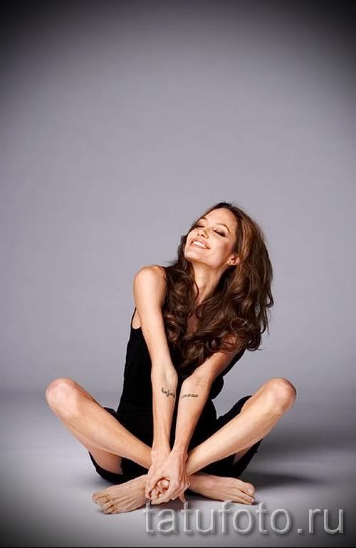 Тату Анджелины Джоли - пример на фото № 47
