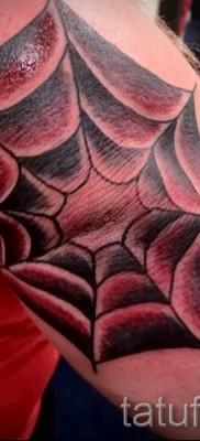 Тату паутина на локте – фото готовой татуировки – 20122015 № 10