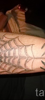 Тату паутина на локте – фото готовой татуировки – 20122015 № 16