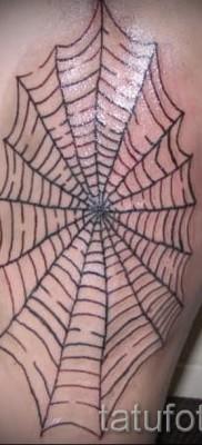 Тату паутина на локте – фото готовой татуировки – 20122015 № 22