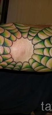 Тату паутина на локте – фото готовой татуировки – 20122015 № 23