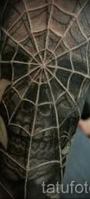 Тату паутина на локте – фото готовой татуировки – 20122015 № 25