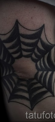 Тату паутина на локте – фото готовой татуировки – 20122015 № 35