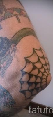 Тату паутина на локте – фото готовой татуировки – 20122015 № 37