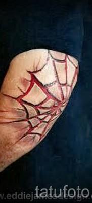 Тату паутина на локте – фото готовой татуировки – 20122015 № 41