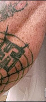 Тату паутина на локте – фото готовой татуировки – 20122015 № 42