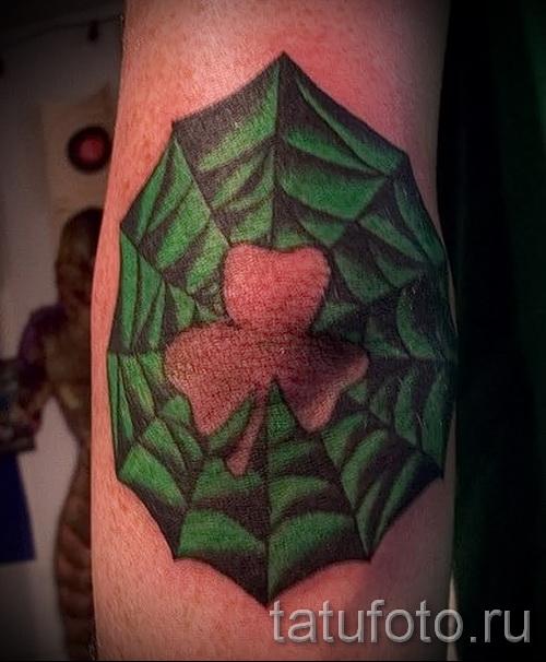 Тату паутина на локте - фото готовой татуировки - 20122015 № 43