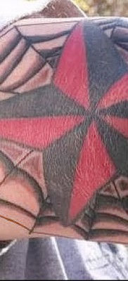 Тату паутина на локте – фото готовой татуировки – 20122015 № 46