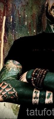 Тату паутина на локте – фото готовой татуировки – 20122015 № 51